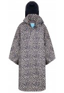 Blauw / beige Bike Cape / Regencape Mara Cheetah van Happy Rainy Days