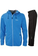 Blauwe 4-way stretch heren regenpak Donovan van Pro-X Elements