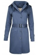 Blauwe dames trenchcoat Mac van Protected Species