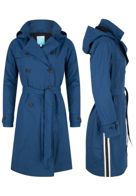 Blauwe Long Trenchcoat Strip Stacey van Happy Rainy Days