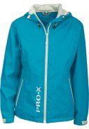 Neon blauwe regenjas Lady Flash van Pro-X Elements