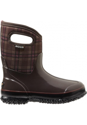 Bogs laarzen Classic mid winter plaid chocolate