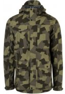 Camo print Urban outdoor pocket regenjas van Agu