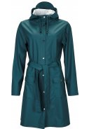 Dark Teal dames regenjas van Rains (Curve Jacket)