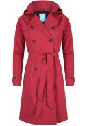 Donker rode Long Trenchcoat Strip Robyne van Happy Rainy Days 3