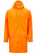 Fire orange lange regenjas van Rains (Long Jacket)