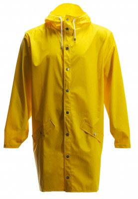 Gele lange regenjas van Rains (Long Jacket)