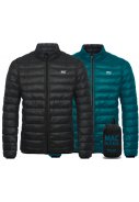 Jet Black / Teal Polar Dames Donsjas reversible van Mac in a Sac