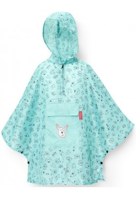 Mint lichtgewicht kinder Regenponcho, Cats and Dogs