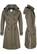 Olive Long Trenchcoat Strip Oprah van Happy Rainy Days