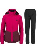Pink / wine red dames regenpak Section van Agu