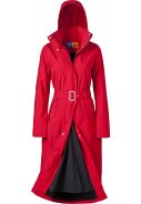 Rode lange regenjas   (Long Raincoat) Rosa van Happy Rainy Days