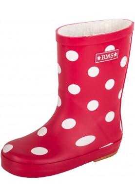 Rood met stippen kinder regenlaars van BMS