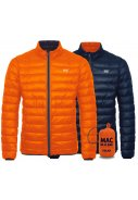 Donkerblauw / oranje Polar heren Donsjas reversible van Mac in a Sac